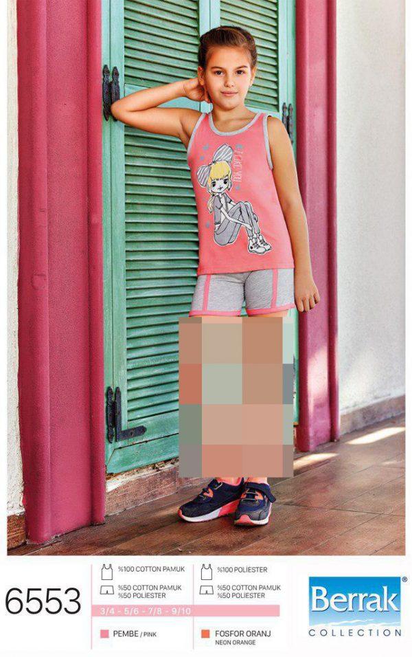 تاپ شورت دخترانه برند براک کد 6553